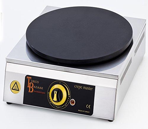 TurcoBazaar Single 40 cm 16' Commercial Double Pancake Maker Luxury Gas Crepe Machine Pan Griddle Machine Non-Stick Crepe Maker