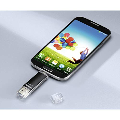 Hama 256GB USB-Speicherstick mit USB 3.0 & microUSB (2-in-1 USB-Stick, z.B. für Android Handy, Tablet, Computer, Notebook, PC, Laptop, MacBook, OTG, 40MB/s) Handy-Stick, Doppel Memory-Stick schwarz