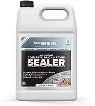 All Purpose Concrete, Brick & Stone Sealer, Clear Penetrating Water Repellent for Porous, Exterior, Brick, Concrete, Stone, Cultured Stone, Sandstone, Limestone & Granite Siloxane Sealer, 1 Gallon