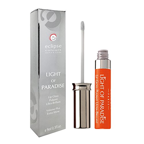 ECLIPSE Gloss à Lèvres Liquide Light Of Paradise Eclat d'Orange Longue Durée Pulpant Ultra-Brillant Volume 9 ml