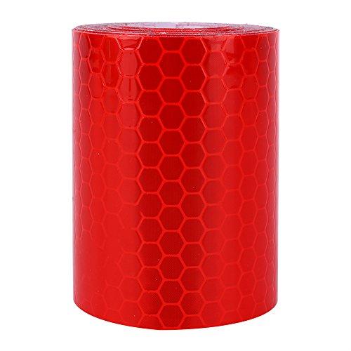 Cinta reflectante Hilitand, 5 cm x 300 cm, impermeable, autoadhesiva, cinta de advertencia para camiones, remolques, parques de tráfico, advertencia de precaución, cinta de conspicuidad, color rojo