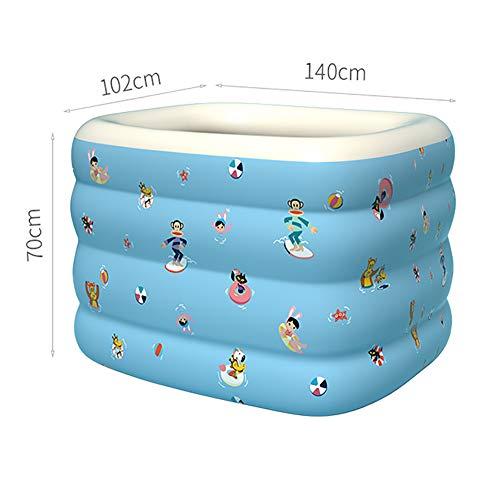XIAOFEI Piscina Inflable BebéS, Cubo NatacióN NiñOs Engrosados BebéS Y NiñOs Plegables Interior Y Exterior DiseñO MáS Grande Grueso Es MáS Duradero (0~3 AñOs),Azul