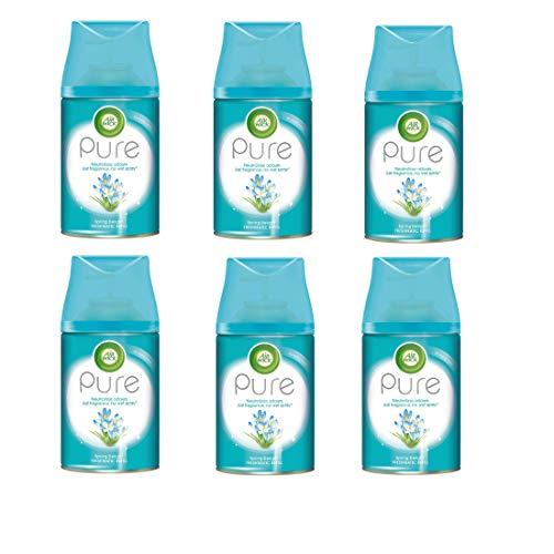 Air Wick Freshmatic Max Pure, Nachfüller für automatisches Duftspray, Frühlingsfrische, 3x2 Stück (6 x 250 ml)