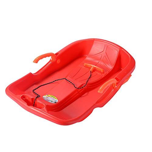 Nieve Trineos con los frenos trineo para niños pequeños para niños pequeños con cuerda de tracción cómoda,Trineo de nieve deporte al aire libre,Trineo de invierno en trineo de nieve trineo,Rojo