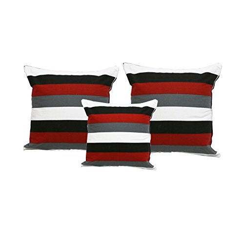 """Decorative Pillows Cover/Cushion Case (18""""x18"""", Red Stripes)"""