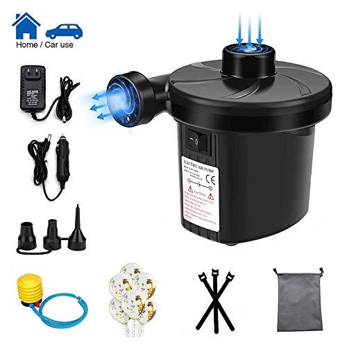 LandJoy Bomba eléctrica para inflables para colchón de aire para acampar Bomba de desinflado inflado AC 230V Inflador de inflado de llenado rápido con 3 boquillas