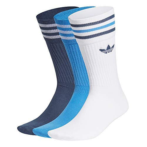 adidas Solid Sock Calcetines, white/true blue/crew navy, L Unisex Adulto