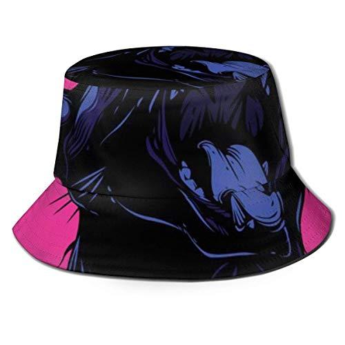 out Unisex Breathable Gorros de Pescador Sombreros de Pesca Screaming Cat Summer Fisherman Cap Wide Brim UV Protection for Women Men Boys Girls