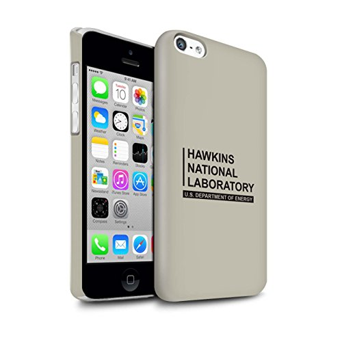 Stuff4 Duro Snap On beschermhoes/Cover/behuizing/telefoon voor Apple iPhone 5C / Beige/Laboratorium Nazionale Hawkins Design