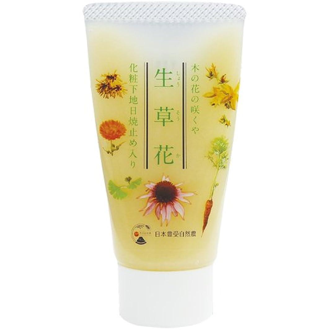 アウター大西洋休暇日本豊受自然農 木の花の咲くや 生草花 化粧下地 日焼け止め入り 30g