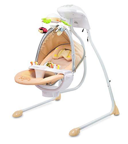 Caretero Bugies Balançoire pour bébé avec siège rotatif et minuteur mobile avec lumières
