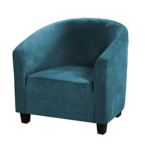 GKDM - Funda de terciopelo para silla de bañera (2 unidades), lavable a máquina, antideslizante, de alta elasticidad, para sala de estar, color ciano