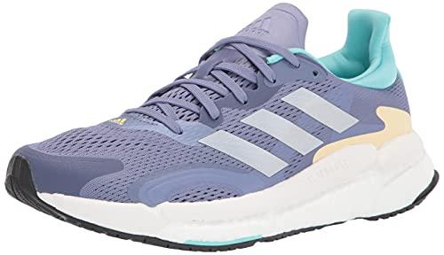 adidas Women's Solar Boost 3 Running Shoe, Orbit Violet/Silver Metallic/Orange Tint, 5
