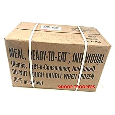 DOOR TROOPERS Long Term Foods Survival MRE (Meals Ready to Eat) Box B 2019, Real Genuine USA Military Surplus Food, Extended Shelf Life Preparedness - Meal Variety, Meats, Desserts - 15,000 cals total