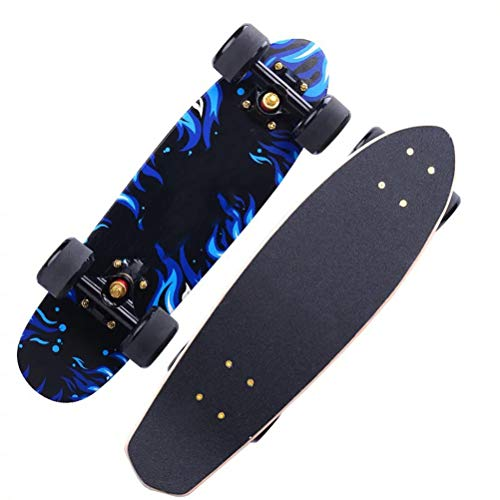 RUIXFSK Perfekt Skateboard Komplettboard 68cm mit ABEC-11 Kugellager 7-lagigem Ahornholz für Kinder Jungendliche und Erwachsene, Belastung 100kg Leicht
