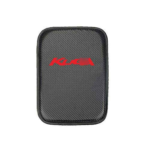 YXNVK Reposabrazos de Coche Cubierta Superior Fibra de Carbono Cuero de PU Consola Central Auto Caja Reposabrazos, para Ford Kuga