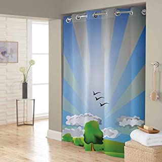 Right Canvas Multi Color 180cm x 200cm Shower Curtain - RG138NPIC00095