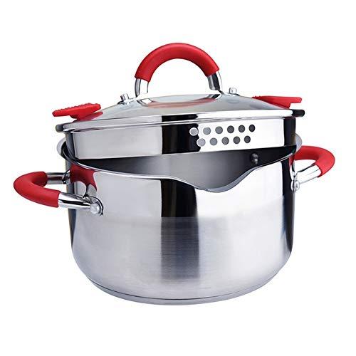 Roestvrij staal Cook Pot Zoete aardappel Noodles Stockpot met Deksel Melk Saucepan Cookware Home Kitchen Cooking Tool 24cm TB Sale (Capacity :)5L)