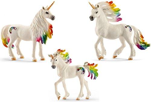 Schleich Unicornios del arcoíris 3 partes Set - 70523 70524 70525