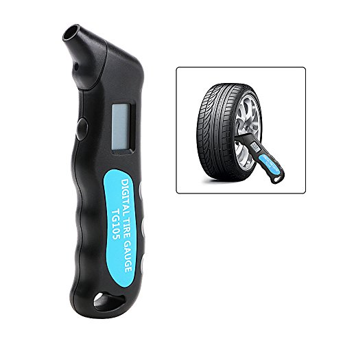 NOPNOG Luftdruckmessgerät für Auto, Motorrad, Luftdruckmessgerät, Manometer, Digitale Anzeige