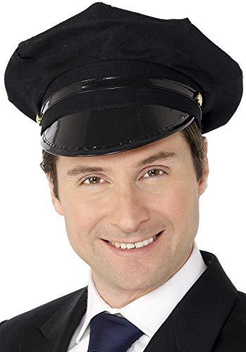 SMIFFYS Smiffy's Cappello da autista, nero Protezione per Schermo LCD della F Uomo, Taglia Unica, 31701