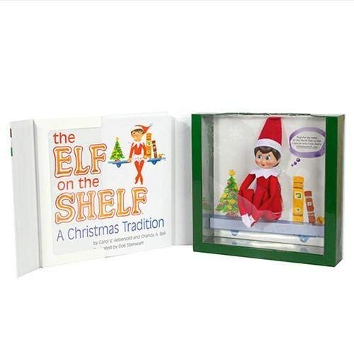 Elf-on-the-Shelf-A-Christmas-Tradition-One-Scout-Elf-boy-or-girl-with-light-or-dark-skin-Includes-Keepsake-Box-and-Childrens-Book-Register-your-Elf-to-download-an-Adoption-Certificate-Santa-Letter-Gir