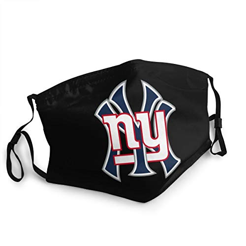 HXJIULI Logo-Clipart-New-York-Yankees-6 Masks 3D Print Anti-Pollution Dust-Proof Adjustable Reusable Washable Unisex Outdoor Sports mask Black