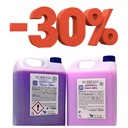 ECOBOLLE OFFERTA -30%: Detersivo per Lavatrice e Ammorbidente Cenere Attiva, Super Profumati e Concentrati 10KG