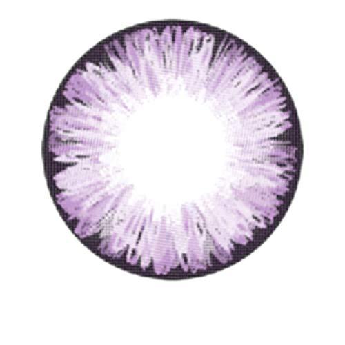 Matlens – EOS Farbige Kontaktlinsen ohne Stärke violet lila ICE II 2 Linsen 1 Kontaktlinsenbehälter 1 Pflegemittel 50ml