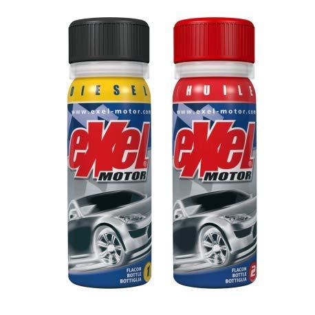 Exel Motor® - Diesel - nettoyant moteur voiture - décrassant haut bas moteur diesel - longévité et efficacité - traitement intégral moteur - 2x50ml