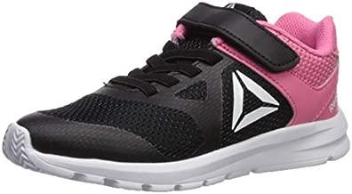 Reebok Girl's Rush Runner Alternate Closure Running Shoe, Black/Pink, 11.5 M US Little Kid