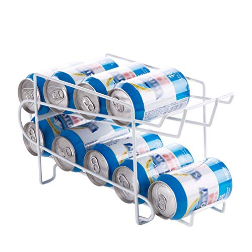 WHLH Soda Can Rack Beverage Dispenser,Kitchen Fridge Beer Bracket Storage Box Container Dispenser Iron Holder Rack