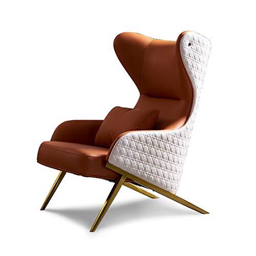 Sillón de piel, moderno y moderno sofá de diseño para dormitorio.
