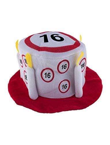TrendClub100® Geburtstag Party Traffic Hut - Verkehrsschild Nr. 16