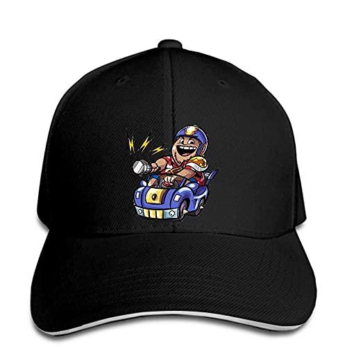 Gorra de béisbol Que Conduce el Sombrero de los Hombres de la Historieta del Coche enarbolado