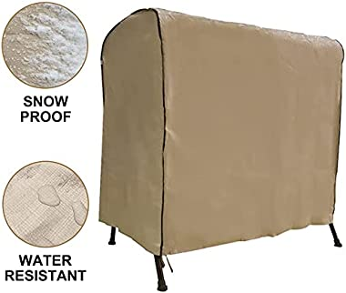 """Abba Patio Outdoor 2 Seat Hammock Swing Glider Canopy Cover Waterproof and All Weather Protection, 65"""" L x 50"""" W x 63"""
