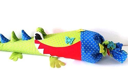 Schultüten/Kissen Nähset Krokodil mit Anleitung, Material und Schultüte 80 cm
