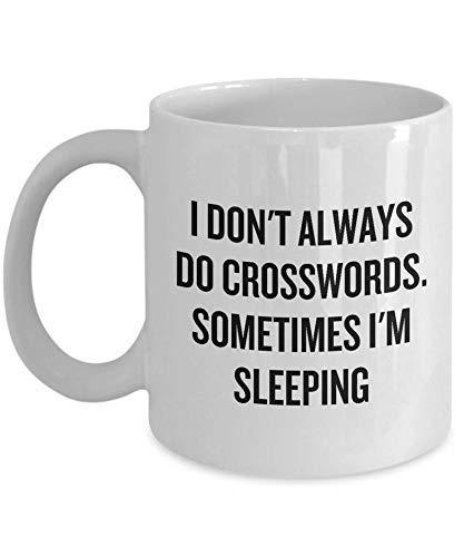 Taza Regalo para Resolver crucigramas - No Siempre Hago crucigramas - Ventilador de crucigramas