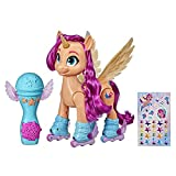 REMOTE CONTROL SKATING WITH SUNNY STARSCOUT: Use the included microphone as a remote control to make 9-inch Sunny figure roller skateforward or spin around in circles MOVIE-INSPIRED MUSIC: Toymakes My Little Pony: A New Generation movie-inspired n...