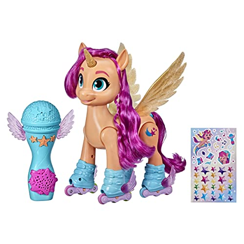 My Little Pony: A New Generation Movie Sing 'N Skate Sunny Starscout - Interactive 9-Inch Remote Control Toy with 50 Reactions, Lights
