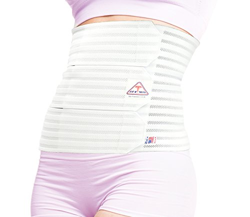 ITA-MED Women's Breathable Elastic Postsurgical Recovery Abdominal and Back Support Wrap/Binder AB-412(W): Medium White