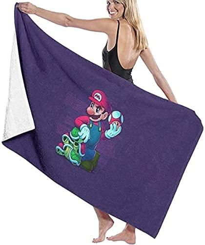 QWAS Super Mario - Toallas de playa compactas, de secado rápido, de microfibra, para niños, toallas de playa suaves y cómodas (Mario2,150 x 200 cm)