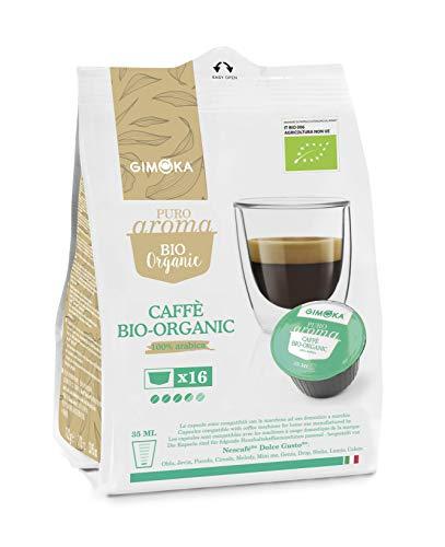 Capsule Gimoka Bio Organic 100% Arabica Compatibili Nescafè Dolce Gusto X16