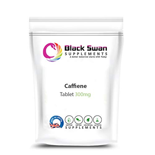 Black Swan Caffeine 300mg Tablet - Pre Workout Slimming Focus, Memory and Physical Performance– Natural Vegetarian Tablets (30 tabs)