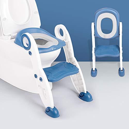 kksmile toilettensitz kinder mit treppe, kindertoilette, Trainingstöpfchensitz, wc sitz kinder mit Spritzschutz