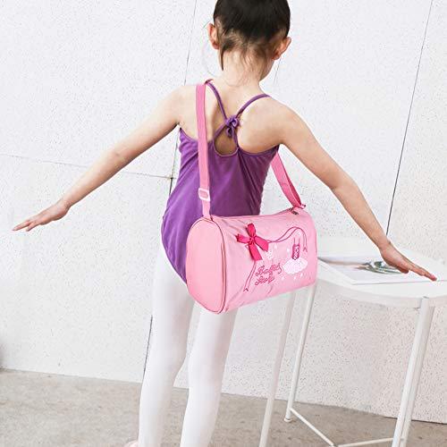 Alomejor Mädchen Kinder Tanz Ballett Badetasche Prinzessin Umhängetaschen Umhängetaschen Rucksack Bestickte Tasche(Rosa)
