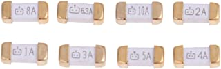 80 Pcs Gold Foot 1808 125v 0451 SMD Fast Blow Ultra Rapid Ceramic Fuse Quick Blow Fuses Assorted Kit 1A 2A 3A 4A 5A 6.3A 8A 10A