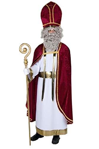 PARTY DISCOUNT ® Weinroter Samtumhang und goldener Schal
