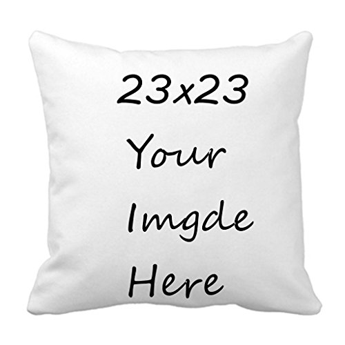 ERAY Image Or Text Print Photo DIY Personalized Custom Zippered Pillowcase Personalized Wedding Gift, Anniversary, Romantic Gift Idea for Couples