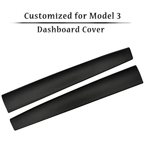 topfit Model Y Model 3 Zubehör Carbon Armaturenbrett Wrap Kit ABS Dashboard Panel Innenausstattung Abdeckung Verkleidung Schutz Folie (Black)